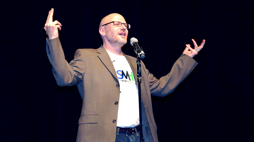 mental health keynote speaker stand up comic David Granirer